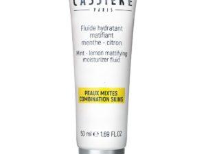 Fluide hydratant matifiant menthe citron Bernard cassiere soin visage